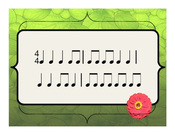 Ta and Ti-ti Rhythm Sight Reading Cards for Spring