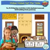 Ta, ti-ti Boom Card™ Activity: Mabel, Mabel, Set the Table