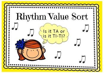 Rhythm Value Sort