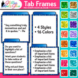 Tab Frames Clip Art {Labels to Organize Bulleted Page Cont