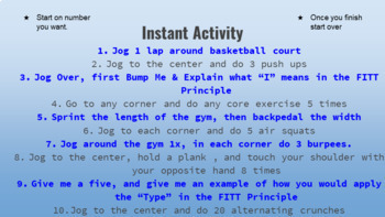 Tabata Gif Slides (With Timer & Instant Activity)