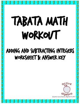Tabata Math: Adding and Subtracting Integers