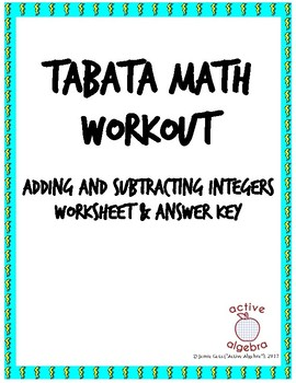 Tabata Math: Adding and Subtracting Integers