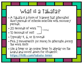 Tabatas: 50 Quick Workouts for Your Classroom