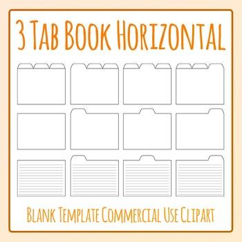 Tabbed Book / File Folder / Subject Notebook 3 Tab Clip Ar