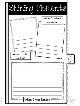 End of Year Tabbed Memory Book Activity