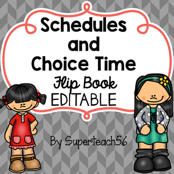 Tabbed Schedules and Choices Visuals FLIPBOOK