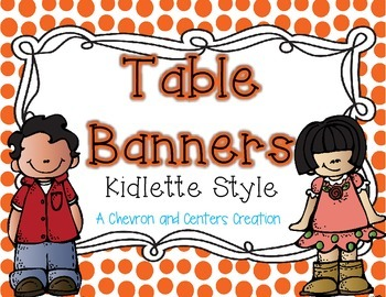 Table Banners- Kidlette Style