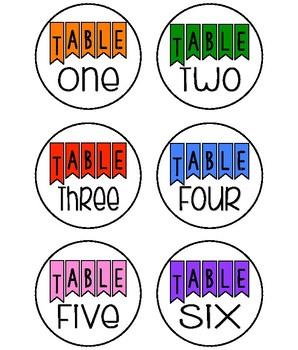 Table Basket Labels