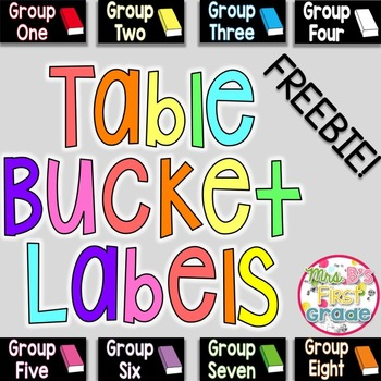 Table Bucket Labels - FREEBIE!