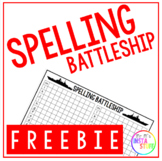 Spelling Battleship - FREEBIE