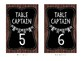 Table Captain Signs