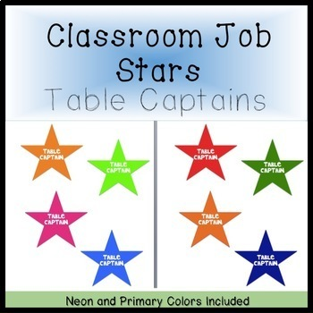 Table Captain Signs (Primary and Neon)