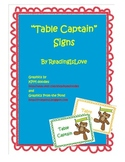 """Table Captain"" Signs for Managing Transitions"