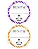 Table Captains -Printable