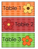 Table Card Labels