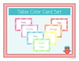 Table Color Card Set