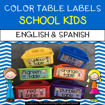 Table Color Labels - English & Spanish