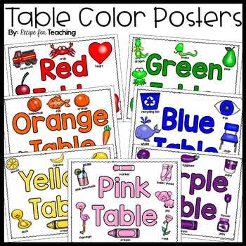 Table Color Posters