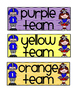 Table Color Labels - Football Theme