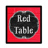 Table Color Signs - Vintage Schoolhouse Chalkboard Theme