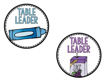 Table Colors Label Pack