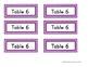 Table Desk Labels - FREEBIE - Color Coded Labels - Rectang