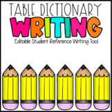 Table Dictionary Student Reference Writing Tool