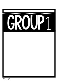 Table Group Cards | Bright and Bold