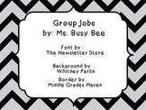 Table Group Jobs