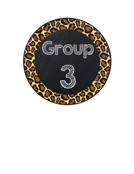 Table Group Labels Leopard Print FREEBIE
