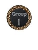 Table Group Labels Leopard Print FREEBIE