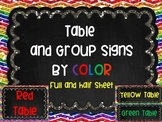 Table Group Labels Signs Rainbow Chalkboard Chevron Glitter Organization