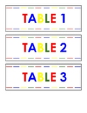 Group & Table Number Labels (On White)
