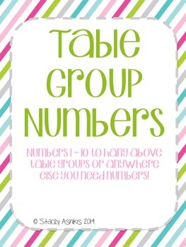 Table Group Numbers