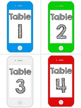 Table & Group Numbers