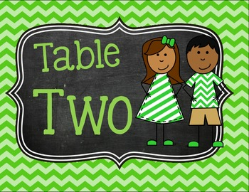 Table Group Signs & Labels (Chevron and Cute kids)