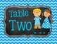 Table Group Signs (Chevron and cute kids) COMPLETE set