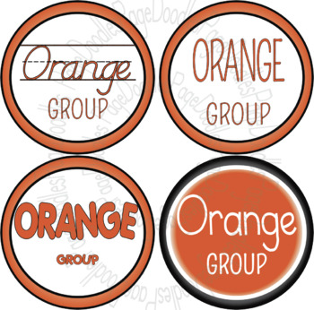 Table Group Signs, Colors - High Quality Vector Graphics