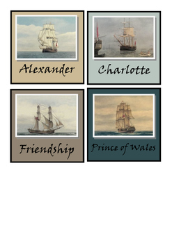 Table Group Signs - First Fleet