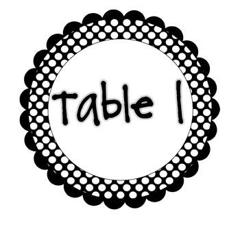 Table Group Signs- Polka Dot