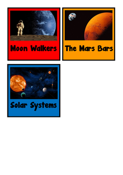 Table Group Signs - Space Themed