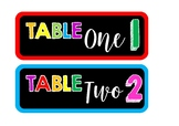 Table Group Signs and Labels - Bright