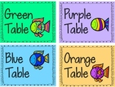 Table & Grouping Color Coded Labels