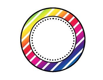 Table - Groups Desks Signs (1-8): Colorful Diagonal Stripes