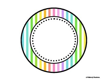 Table - Groups Desks Signs (1-8): Neon Stripes