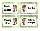 FREEBIE Table Job Labels (Green Polka Dot)