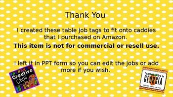 Table Jobs