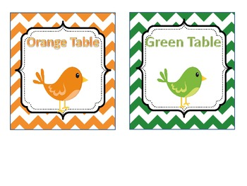 Table Labels