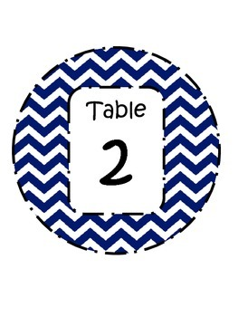 Table Labels 1-5